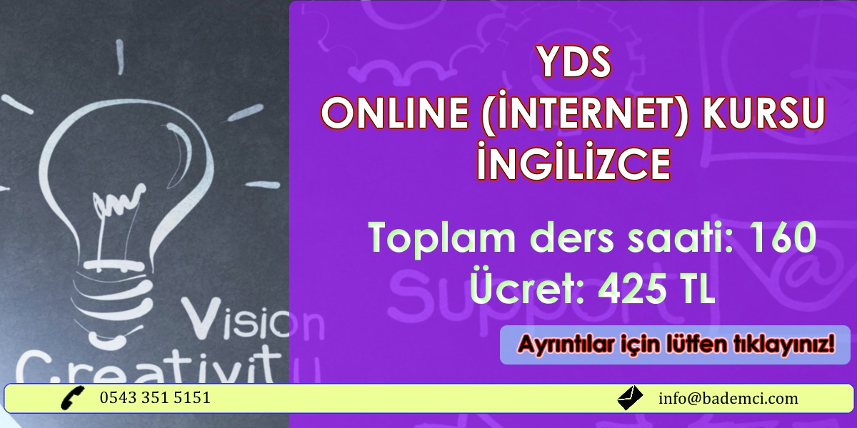 2017 bahar YDS Online kurs